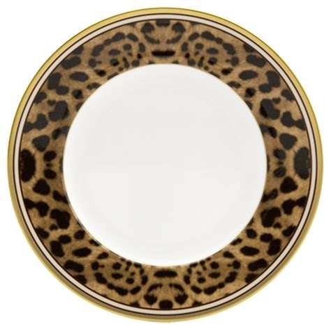 leopard print dishes desert leopard plates set of 4 contemporary salad and dessert plates by nikko ceramic