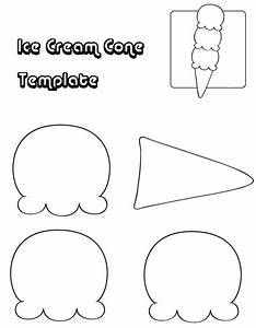 ice cram cone template coloring pages templates for With paper ice cream cone template