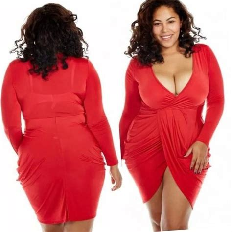 Plus Size Red Club Dress Pluslookeu Collection