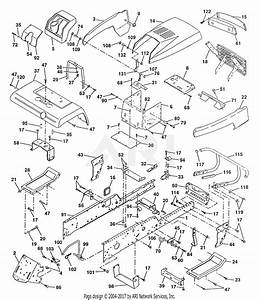 Poulan Pp22h50 Tractor Parts Diagram For Chassis And