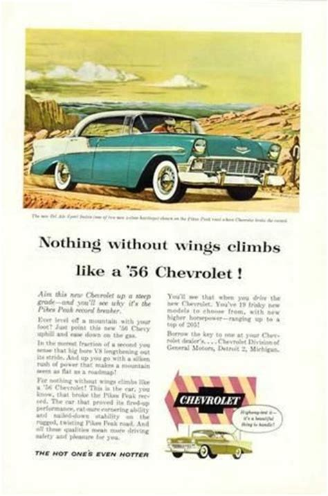 belair ad images  pinterest chevy vintage ads