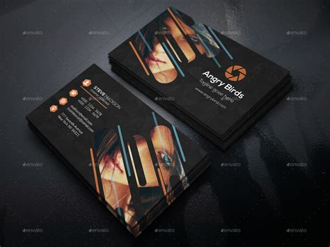 creative photography business card  designpark