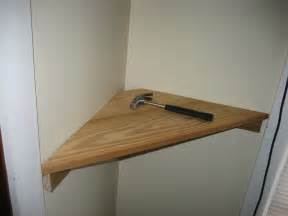 simple diy wood floating corner wall shelf in the small