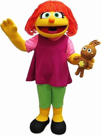 Sesame Street Julia Characters Bird Abby Beaches