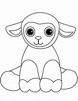 Coloring Sheep Lamb Pages Cute Cartoon Printable Sheet Print Onlinecoloringpages sketch template