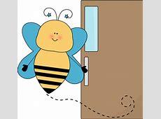 Bee Door Holder Clip Art Bee Door Holder Vector Image