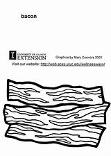 Bacon Coloring Pages Printable Edupics sketch template