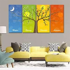 Baum Für Wohnzimmer : multi bild vier jahreszeiten baum dekorative wandbilder ~ Michelbontemps.com Haus und Dekorationen