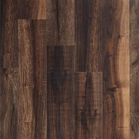 nucore mixed mocha hand scraped plank with cork back
