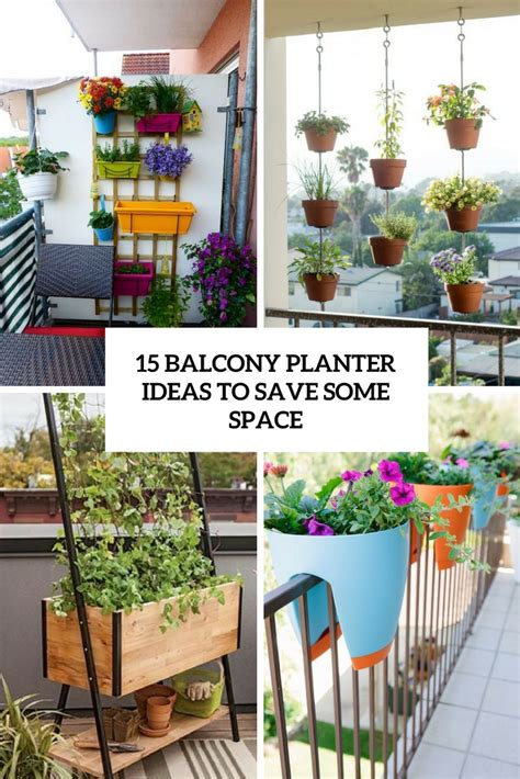 Small Planter Ideas by 15 Balcony Planter Ideas To Save Some Space Shelterness
