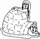 Igloo Coloring Pages Eskimo Getcolorings Printable Getdrawings Sheets Doghousemusic Making sketch template