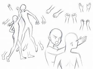 Sketch examples of how to draw one character punching ...