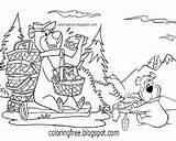 Bear Yogi Coloring Characters Drawing Printable Boo Cartoon Coloringfree Kaynak sketch template