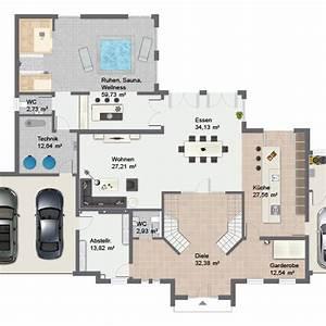 Grundriss Haus 200 Qm : luxushaus villa cannstatt ein fertighaus von gussek haus ~ Watch28wear.com Haus und Dekorationen