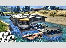 Luxury Lake House with Drawbridge GTA 5 PC MOD YouTube