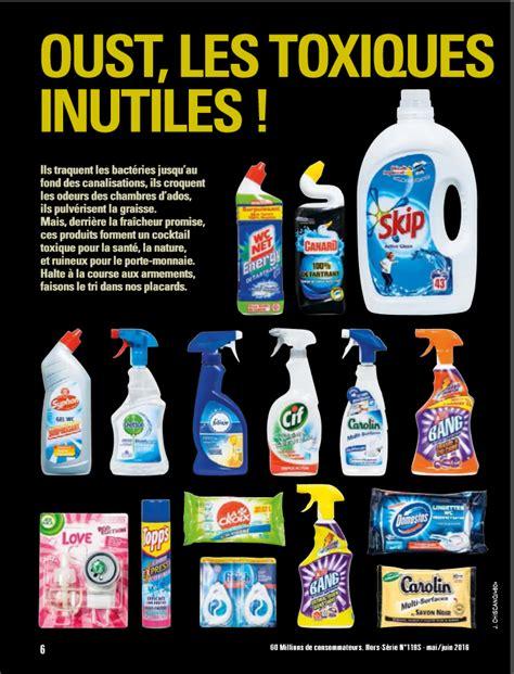 substances toxiques les pires produits ménagers à éviter
