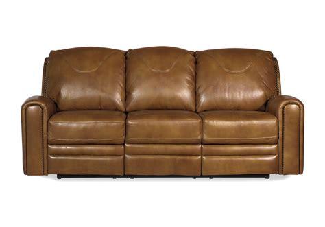 saddle leather sofa gorgeous reclining estateregional