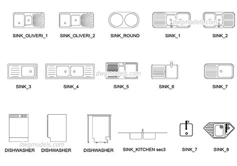 cuisine dwg drop in kitchen sinks free cad blocks autocad file