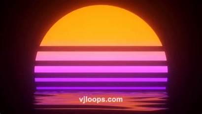 Retro Sunset Summer Vjloops Beach Vj Kaynak