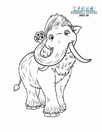 Coloring Ice Age Pages Collision Course Mammoth