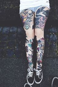 Best Leg Sleeve Tattoo Ideas And Images On Bing Find What Youll