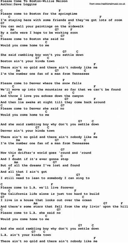Boston Please Come Lyrics Chords Songs Music