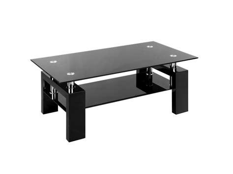nettoyer un canapé table basse à plateau verre trempé vi noir