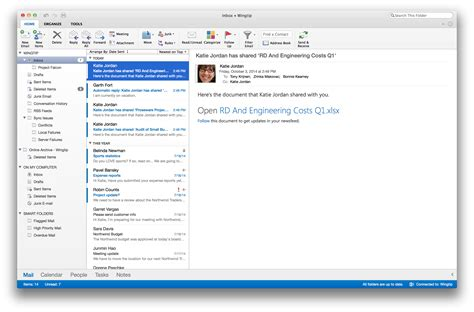 Office 365 Mail Mail by Document Moved