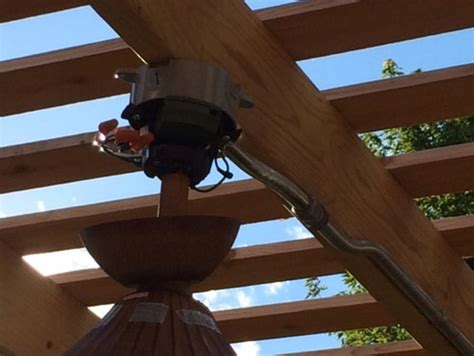 how to install a ceiling fan box need help mounting our new outdoor ceiling fan under our