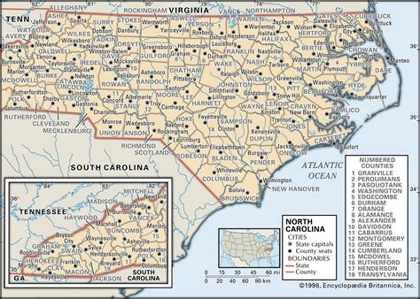 North Carolina County Map Rich Image And
