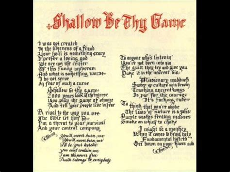 Red Hot Chili Peppers  Shallow Be Thy Game Lyrics