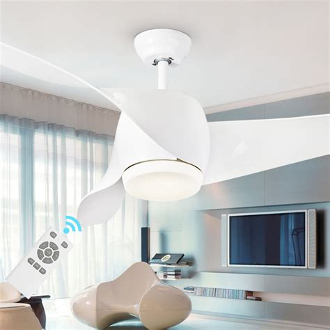 bedroom ceiling fans with lights and remote led modern white 95 265v 30w power dc ceiling fans with