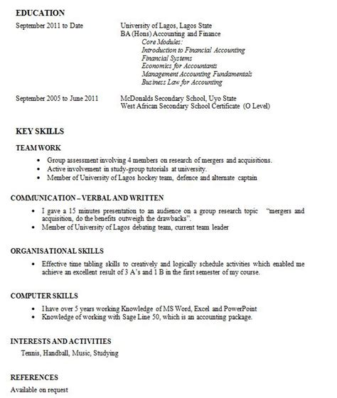 Curriculum Vitae Work Experience Format by My Cv Clinic Writing A Cv When You Zero Work