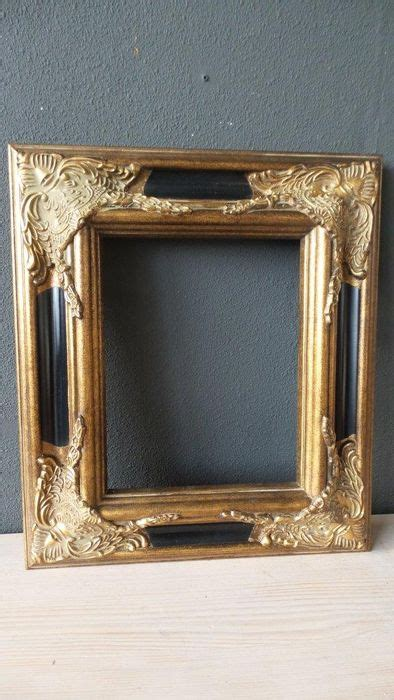 Two Gilded Baroque Style Picture Frames 20 X 25 Cm