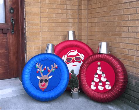 transform  tires  holiday ornaments completely
