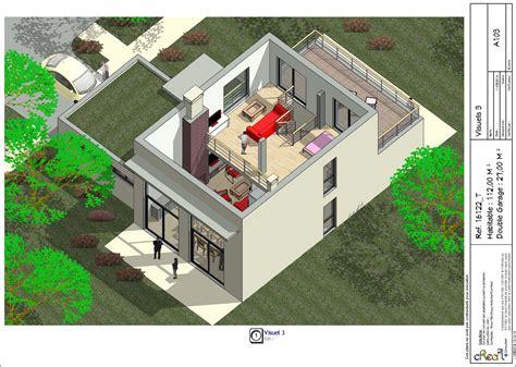 plan de maison 4 chambres avec 騁age maison plain pied avec mezzanine maison moderne