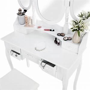 Meuble De Maquillage : coiffeuse meuble table de maquillage tabouret commode avec 3 miroirs blanc ebay ~ Teatrodelosmanantiales.com Idées de Décoration