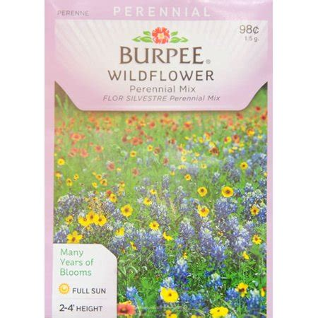 burpee wildflower perennial mix seed packet walmartcom