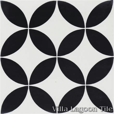 black and white cement tile quot circulos b black and white quot cement tile villa lagoon tile