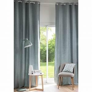 Rideau A Oeillet : rideau illets bleu gris l 39 unit 130x300 andy ~ Dallasstarsshop.com Idées de Décoration