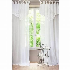 Rideau En Lin Blanc : rideau nouettes en lin blanc 140 x 300 cm romance ~ Melissatoandfro.com Idées de Décoration
