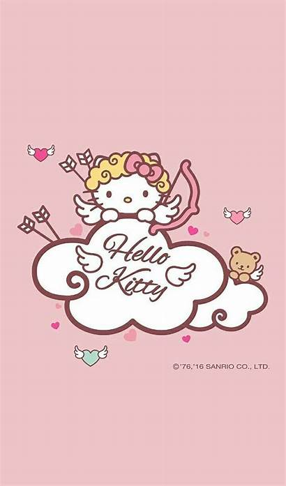 Kitty Hello Sanrio Valentine Gatos Fondos Melody
