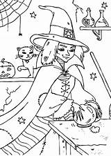 Coloring Ball Crystal Witch Wicked Touch Designlooter Tocolor sketch template