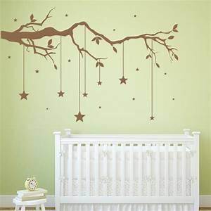 Tree Branch Wall Sticker Hanging Stars Wall Decal Baby