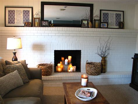 family roompainted brick fireplace peggy