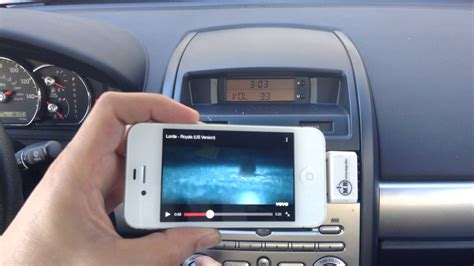 how to play from iphone thru car with no aux