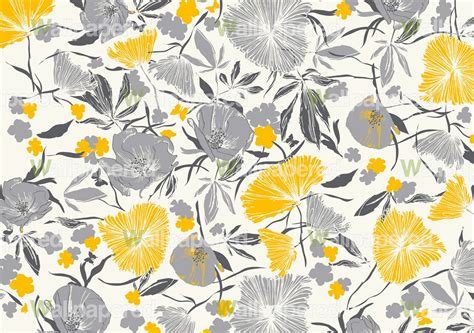 Grey And Yellow Wallpaper