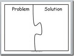 problem and solution template education school language arts and language