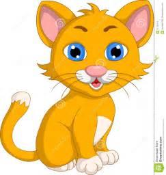 Cute Kitten Cartoon Cat
