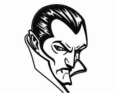 Dracula Coloring Profile Halloween Pages Monster Dibujo